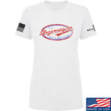 Mrgunsngear Ladies Mrgunsngear Logo T-Shirt T-Shirts SMALL / White by Ballistic Ink - Made in America USA