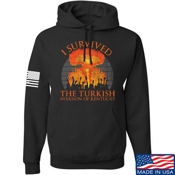 RapidFire Rachel I survived the Turkish invasion of Kentucky Hoodie Hoodies Small / Black by Ballistic Ink - Made in America USA