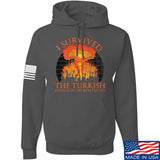 RapidFire Rachel I survived the Turkish invasion of Kentucky Hoodie Hoodies Small / Charcoal by Ballistic Ink - Made in America USA