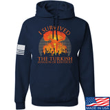 RapidFire Rachel I survived the Turkish invasion of Kentucky Hoodie Hoodies Small / Navy by Ballistic Ink - Made in America USA