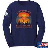RapidFire Rachel I survived the Turkish invasion of Kentucky Long Sleeve T-Shirt Long Sleeve Small / Navy by Ballistic Ink - Made in America USA