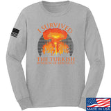 RapidFire Rachel I survived the Turkish invasion of Kentucky Long Sleeve T-Shirt Long Sleeve Small / Light Grey by Ballistic Ink - Made in America USA