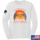 RapidFire Rachel I survived the Turkish invasion of Kentucky Long Sleeve T-Shirt Long Sleeve Small / White by Ballistic Ink - Made in America USA