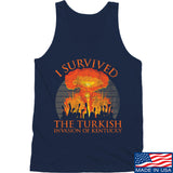 RapidFire Rachel I survived the Turkish invasion of Kentucky Tank Tanks SMALL / Navy by Ballistic Ink - Made in America USA