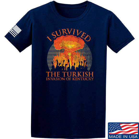 RapidFire Rachel I survived the Turkish invasion of Kentucky T-Shirt T-Shirts Small / Navy by Ballistic Ink - Made in America USA