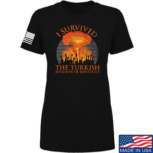 RapidFire Rachel Ladies I survived the Turkish invasion of Kentucky T-Shirt T-Shirts SMALL / Cream by Ballistic Ink - Made in America USA