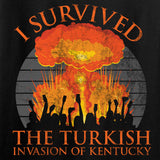 RapidFire Rachel Ladies I survived the Turkish invasion of Kentucky V-Neck T-Shirts, V-Neck [variant_title] by Ballistic Ink - Made in America USA