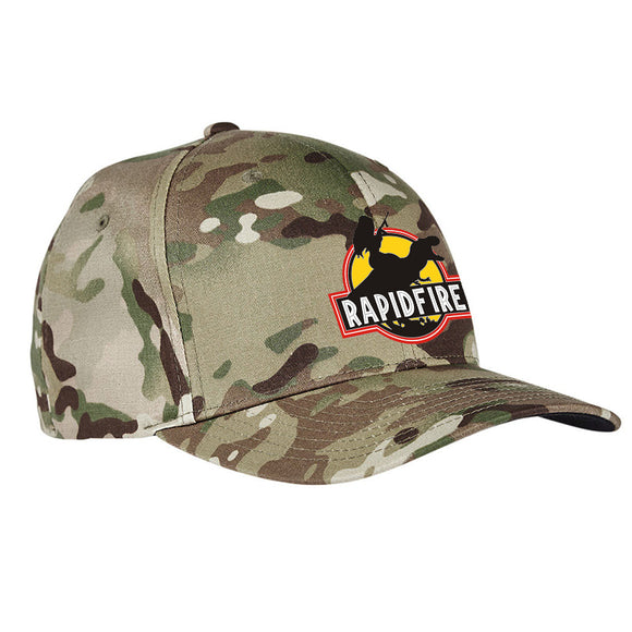 RapidFire Rachel RapidFire Rachel Logo Flexfit® Multicam® Trucker Cap Headwear [variant_title] by Ballistic Ink - Made in America USA