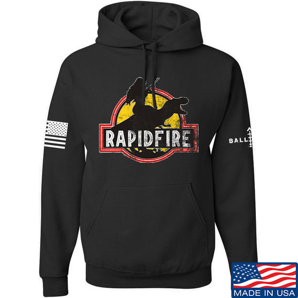 RapidFire Rachel RapidFire Rachel Logo Hoodie Hoodies Small / Black by Ballistic Ink - Made in America USA