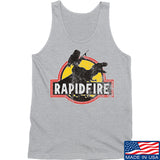 RapidFire Rachel RapidFire Rachel Logo Tank Tanks SMALL / Light Grey by Ballistic Ink - Made in America USA