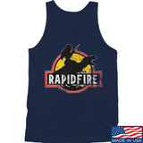RapidFire Rachel RapidFire Rachel Logo Tank Tanks SMALL / Navy by Ballistic Ink - Made in America USA