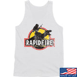 RapidFire Rachel RapidFire Rachel Logo Tank Tanks SMALL / White by Ballistic Ink - Made in America USA