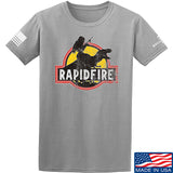 RapidFire Rachel RapidFire Rachel Logo T-Shirt T-Shirts Small / Light Gray by Ballistic Ink - Made in America USA