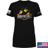 RapidFire Rachel Ladies RapidFire Rachel Logo T-Shirt T-Shirts SMALL / Black by Ballistic Ink - Made in America USA