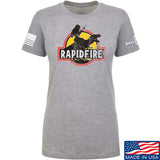 RapidFire Rachel Ladies RapidFire Rachel Logo T-Shirt T-Shirts SMALL / Light Grey by Ballistic Ink - Made in America USA