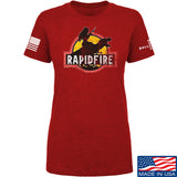 RapidFire Rachel Ladies RapidFire Rachel Logo T-Shirt T-Shirts SMALL / Red by Ballistic Ink - Made in America USA