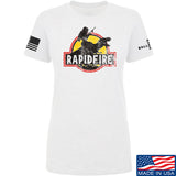 RapidFire Rachel Ladies RapidFire Rachel Logo T-Shirt T-Shirts SMALL / White by Ballistic Ink - Made in America USA
