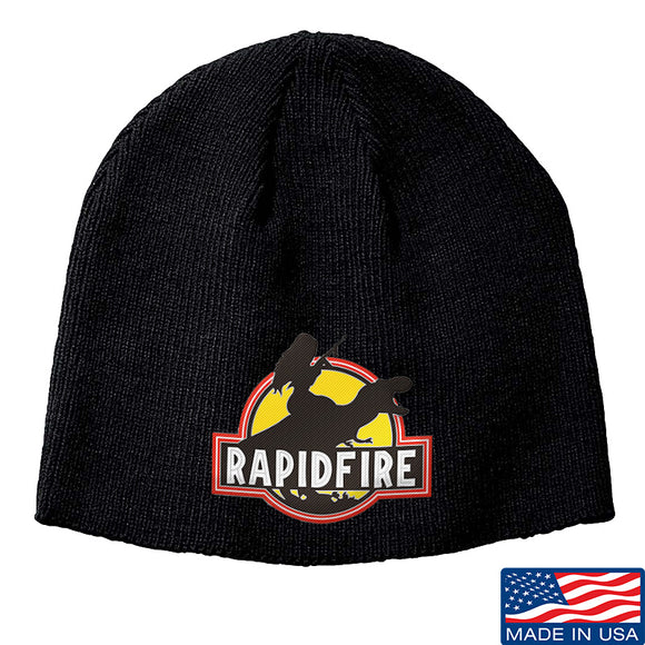 RapidFire Rachel RapidFire Rachel Logo Beanie Headwear Black by Ballistic Ink - Made in America USA