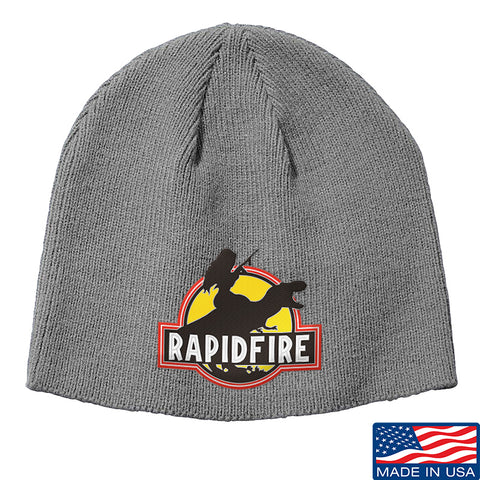 RapidFire Rachel RapidFire Rachel Logo Beanie Headwear Grey by Ballistic Ink - Made in America USA