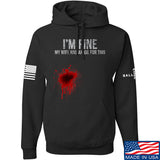 Skinny Medic I'm Fine My Wife has an Oil for This Hoodie Hoodies Small / Black by Ballistic Ink - Made in America USA
