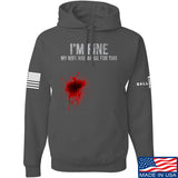 Skinny Medic I'm Fine My Wife has an Oil for This Hoodie Hoodies Small / Charcoal by Ballistic Ink - Made in America USA