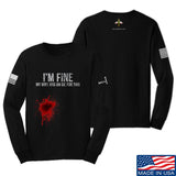 Skinny Medic I'm Fine My Wife has an Oil for This Long Sleeve T-Shirt Long Sleeve Small / Black by Ballistic Ink - Made in America USA
