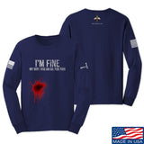 Skinny Medic I'm Fine My Wife has an Oil for This Long Sleeve T-Shirt Long Sleeve Small / Navy by Ballistic Ink - Made in America USA