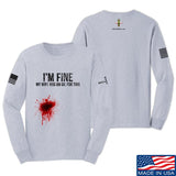 Skinny Medic I'm Fine My Wife has an Oil for This Long Sleeve T-Shirt Long Sleeve Small / Light Grey by Ballistic Ink - Made in America USA