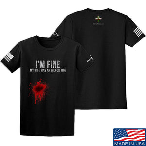 Skinny Medic I'm Fine My Wife has an Oil for This T-Shirt T-Shirts SMALL / Sand by Ballistic Ink - Made in America USA