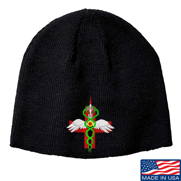 Skinny Medic Skinny Medic Logo Beanie Headwear Black by Ballistic Ink - Made in America USA