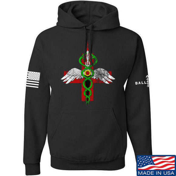 Skinny Medic Skinny Medic Logo Hoodie Hoodies Small / Black by Ballistic Ink - Made in America USA