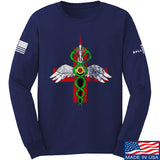 Skinny Medic Skinny Medic Logo Long Sleeve T-Shirt Long Sleeve Small / Navy by Ballistic Ink - Made in America USA