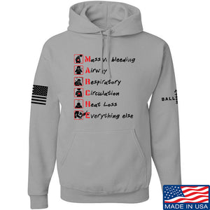 Skinny Medic Trauma 101 - MARCHE Hoodie Hoodies Small / Charcoal by Ballistic Ink - Made in America USA