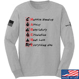 Skinny Medic Trauma 101 - MARCHE Long Sleeve T-Shirt Long Sleeve Small / Light Grey by Ballistic Ink - Made in America USA
