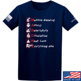 Skinny Medic Trauma 101 - MARCHE T-Shirt T-Shirts Small / Navy by Ballistic Ink - Made in America USA
