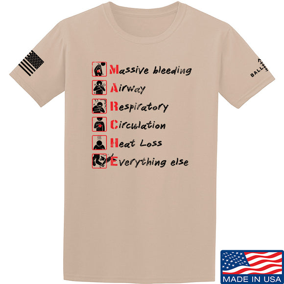 Skinny Medic Trauma 101 - MARCHE T-Shirt T-Shirts Small / Sand by Ballistic Ink - Made in America USA