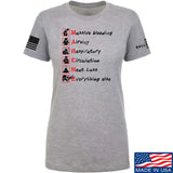 Skinny Medic Ladies Trauma 101 - MARCHE T-Shirt T-Shirts SMALL / Light Grey by Ballistic Ink - Made in America USA