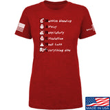 Skinny Medic Ladies Trauma 101 - MARCHE T-Shirt T-Shirts SMALL / Red by Ballistic Ink - Made in America USA