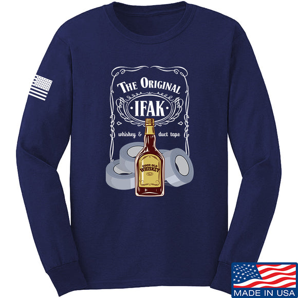 Skinny Medic The Original IFAK Long Sleeve T-Shirt Long Sleeve Small / Navy by Ballistic Ink - Made in America USA
