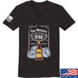 Skinny Medic Ladies The Original IFAK V-Neck T-Shirts, V-Neck SMALL / Black by Ballistic Ink - Made in America USA