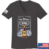 Skinny Medic Ladies The Original IFAK V-Neck T-Shirts, V-Neck SMALL / Charcoal by Ballistic Ink - Made in America USA