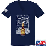 Skinny Medic Ladies The Original IFAK V-Neck T-Shirts, V-Neck SMALL / Navy by Ballistic Ink - Made in America USA