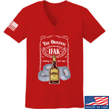Skinny Medic Ladies The Original IFAK V-Neck T-Shirts, V-Neck SMALL / Red by Ballistic Ink - Made in America USA