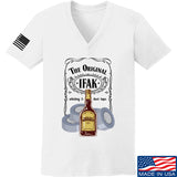 Skinny Medic Ladies The Original IFAK V-Neck T-Shirts, V-Neck SMALL / White by Ballistic Ink - Made in America USA
