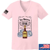 Skinny Medic Ladies The Original IFAK V-Neck T-Shirts, V-Neck SMALL / Light Pink by Ballistic Ink - Made in America USA