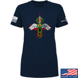 Skinny Medic Ladies Skinny Medic Logo T-Shirt T-Shirts SMALL / Navy by Ballistic Ink - Made in America USA
