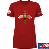 Skinny Medic Ladies Skinny Medic Logo T-Shirt T-Shirts SMALL / Red by Ballistic Ink - Made in America USA