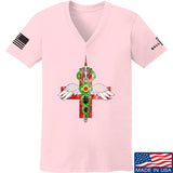 Skinny Medic Ladies Skinny Medic Logo V-Neck T-Shirts, V-Neck SMALL / Light Pink by Ballistic Ink - Made in America USA