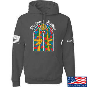 The Gun Collective Disciples of Freedom Hoodie Hoodies Small / Black by Ballistic Ink - Made in America USA
