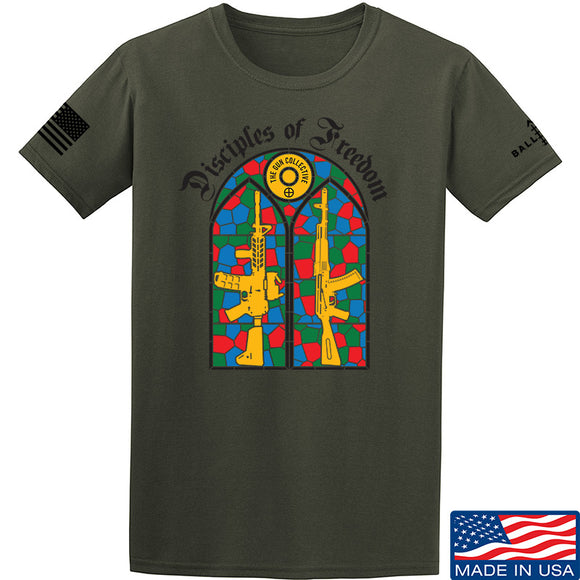 The Gun Collective Disciples of Freedom T-Shirt T-Shirts Small / Military Green by Ballistic Ink - Made in America USA